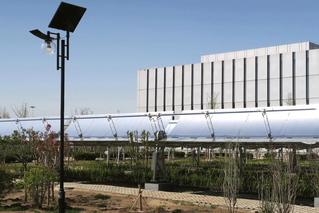 Solar Concentration Trough Installation